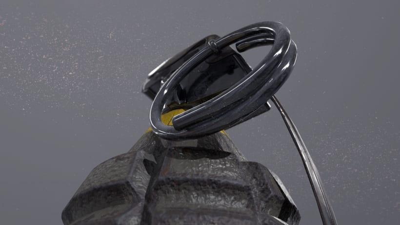 Grenade - AUTODESK 3DS MAX + SUBSTANCE PAINTER + MARMOSET 0