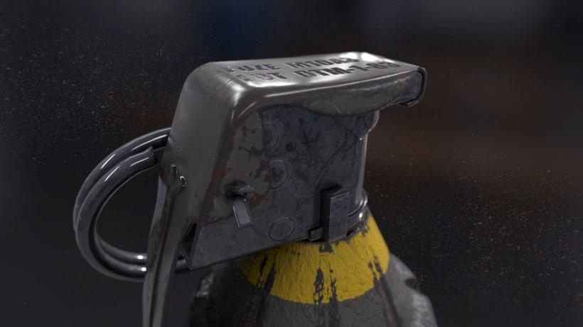 Grenade - AUTODESK 3DS MAX + SUBSTANCE PAINTER + MARMOSET 1