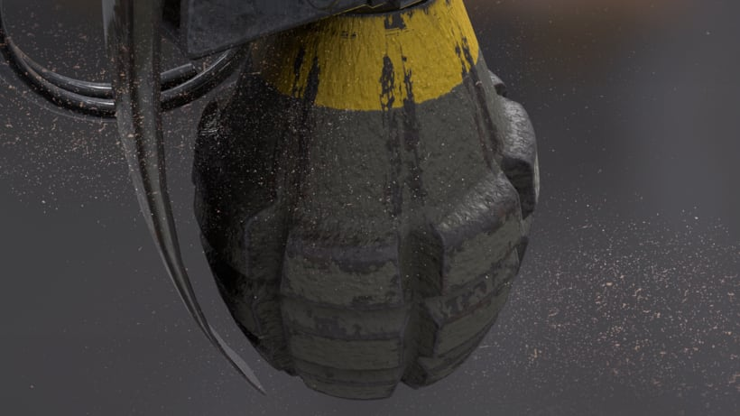 Grenade - AUTODESK 3DS MAX + SUBSTANCE PAINTER + MARMOSET 3