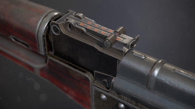 AK47 - AUTODESK 3DS MAX + SUBSTANCE PAINTER + MARMOSETNuevo proyecto -1