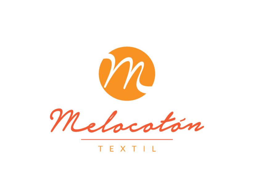 Melocotón Textil // Diseño de logo y aplicaciones de color -1