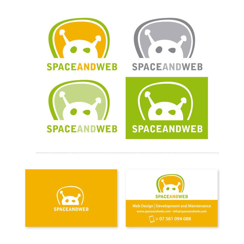 Spaceandweb, Logotipo y Tarjeta de Visita. -1