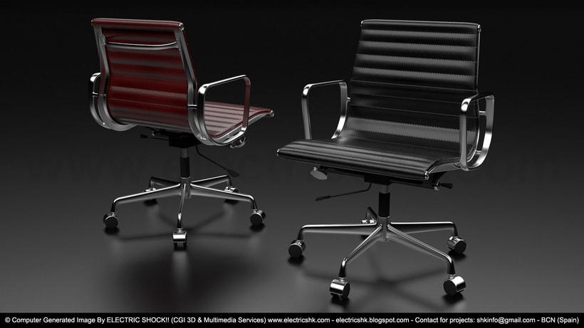 Sillas Roja & Negra CGI 3D 0