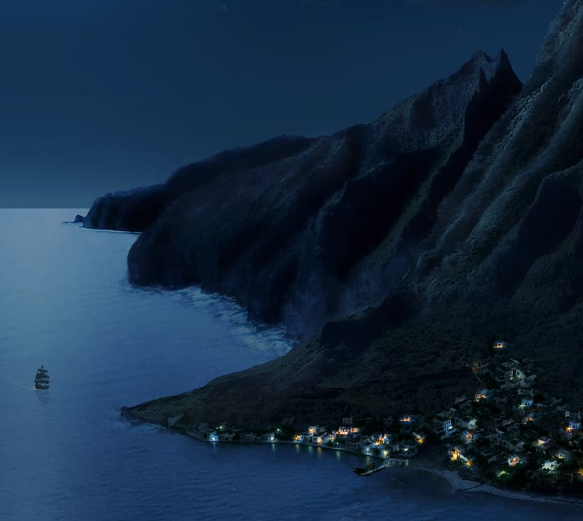 Mi Proyecto del curso: Matte Painting: creando mundos fotorrealistas (Monkey Island) 1