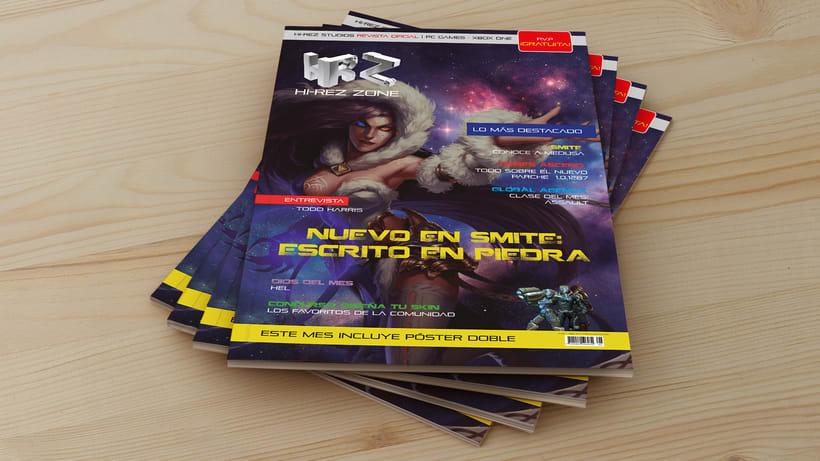 REVISTA HIREZ| Maquetación de una revista de juegos MOBA 0