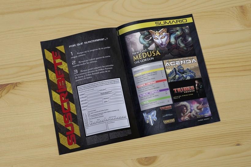 REVISTA HIREZ| Maquetación de una revista de juegos MOBA 1