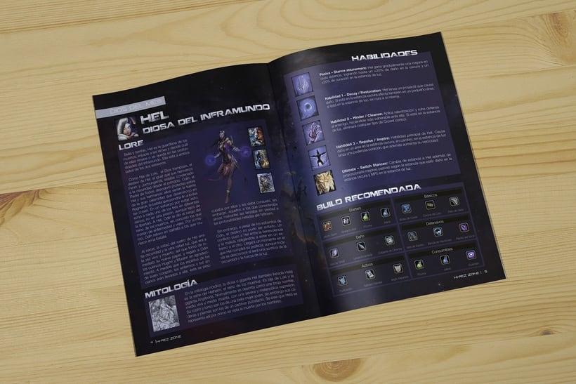 REVISTA HIREZ| Maquetación de una revista de juegos MOBA 2