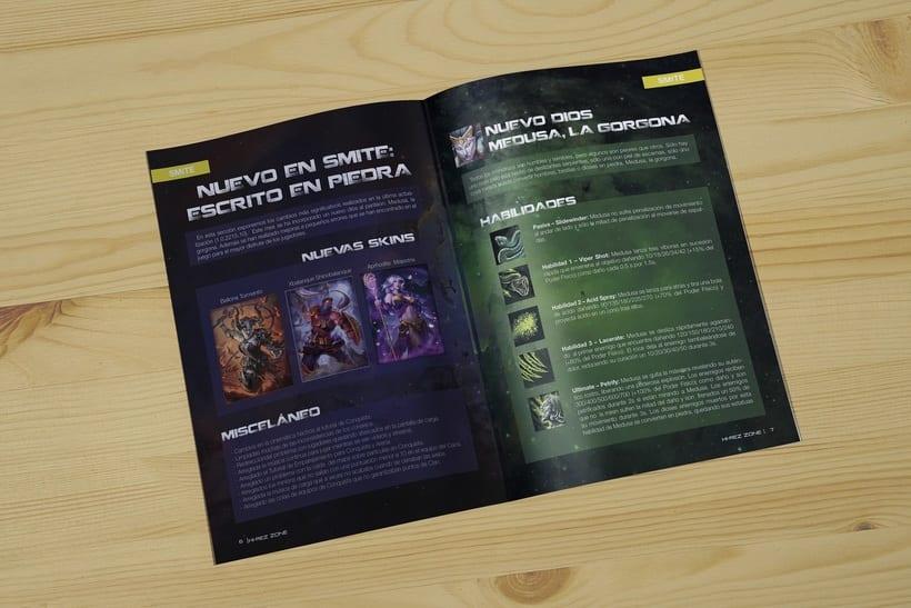 REVISTA HIREZ| Maquetación de una revista de juegos MOBA 3