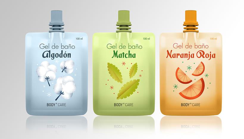 Diseño de packaging para Gel de viaje - colaboración de Bestiola & Malota 0
