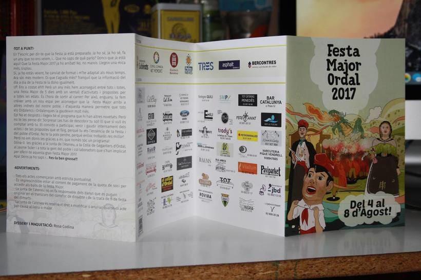Diseño de programa Fiestas de Ordal 2017 1