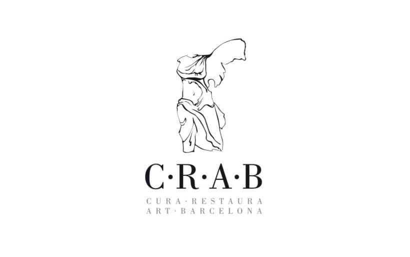 Identidad creada para C·R·A·B, empresa dedicada a la restauración de obras de artevo proyecto -1