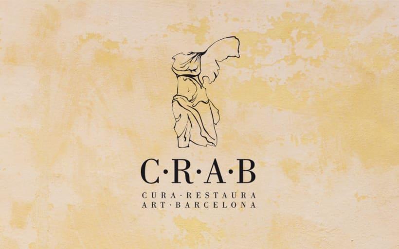 Identidad creada para C·R·A·B, empresa dedicada a la restauración de obras de artevo proyecto 0