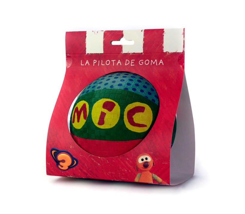 Diseño de packaging para pelota de personaje MIC - Club Super 3 0