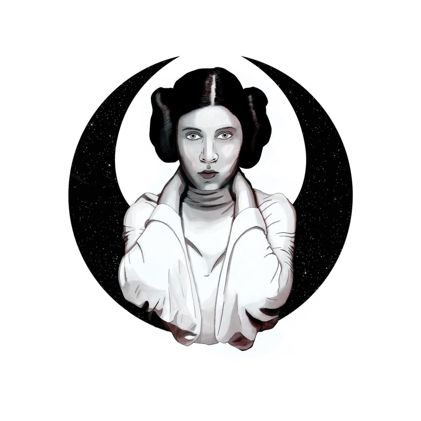 LEIA - Retrato ilustrado con Photoshop -1