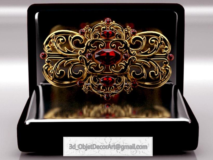 vintage  3d : jewelry , objetos de decoración, muebles estilo clásico . 0