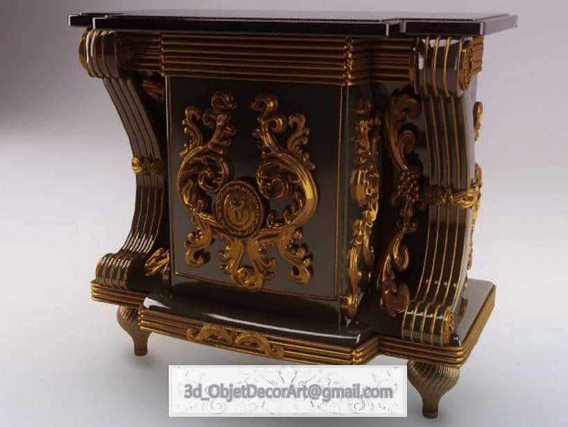 vintage  3d : jewelry , objetos de decoración, muebles estilo clásico . 3