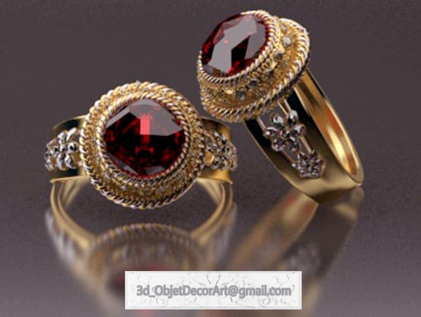 vintage  3d : jewelry , objetos de decoración, muebles estilo clásico . 4