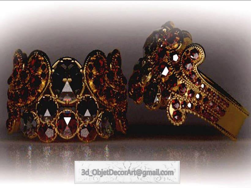 vintage  3d : jewelry , objetos de decoración, muebles estilo clásico . 5