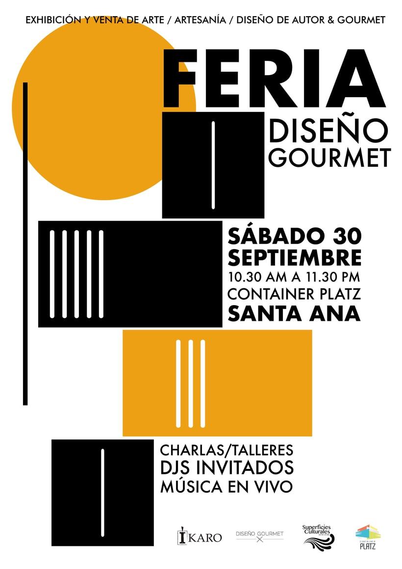 Diseño gráfico para la Feria Diseño Gourmet Septiembre 2017 -1