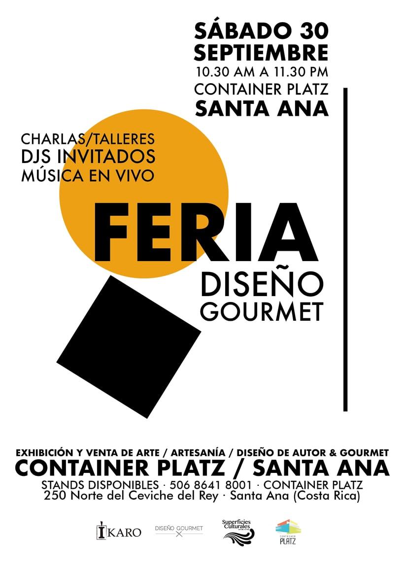 Diseño gráfico para la Feria Diseño Gourmet Septiembre 2017 0