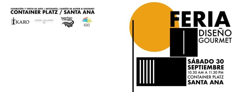 Diseño gráfico para la Feria Diseño Gourmet Septiembre 2017 2