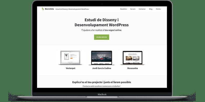 Diseño y desarrollo WordPress para Becicleta | Jordi Garcia Codina  0