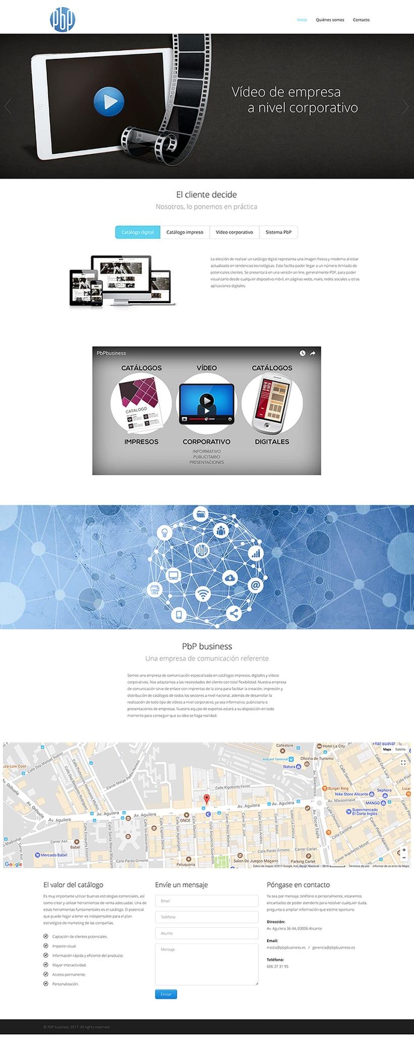 Diseño web y vídeo corporativo 1