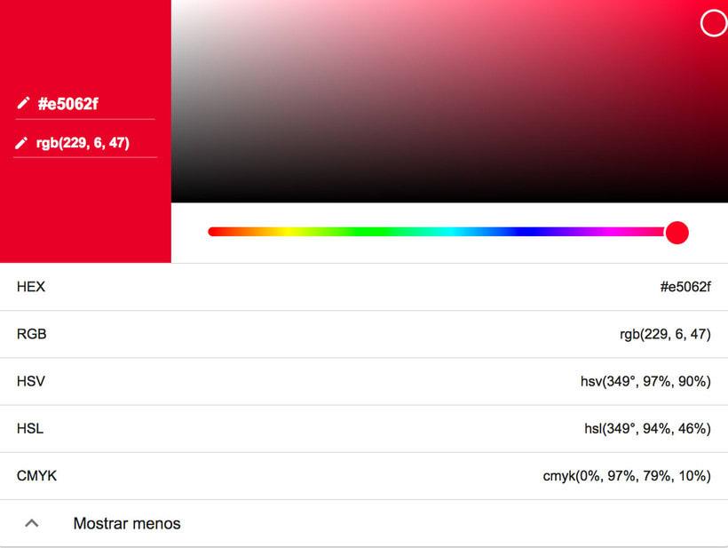 El selector de colores oculto de Google 4
