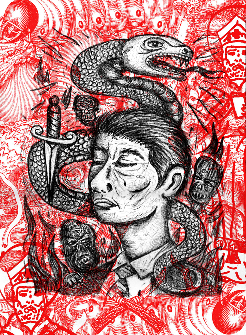 Litografía de la serie Embrujados -1