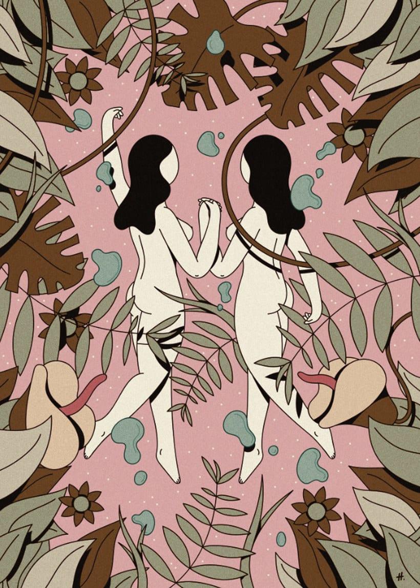 Las mujeres misteriosas ilustradas por Hugo Giner 9