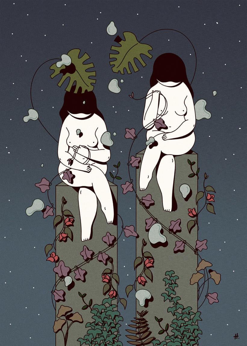 Las mujeres misteriosas ilustradas por Hugo Giner 14