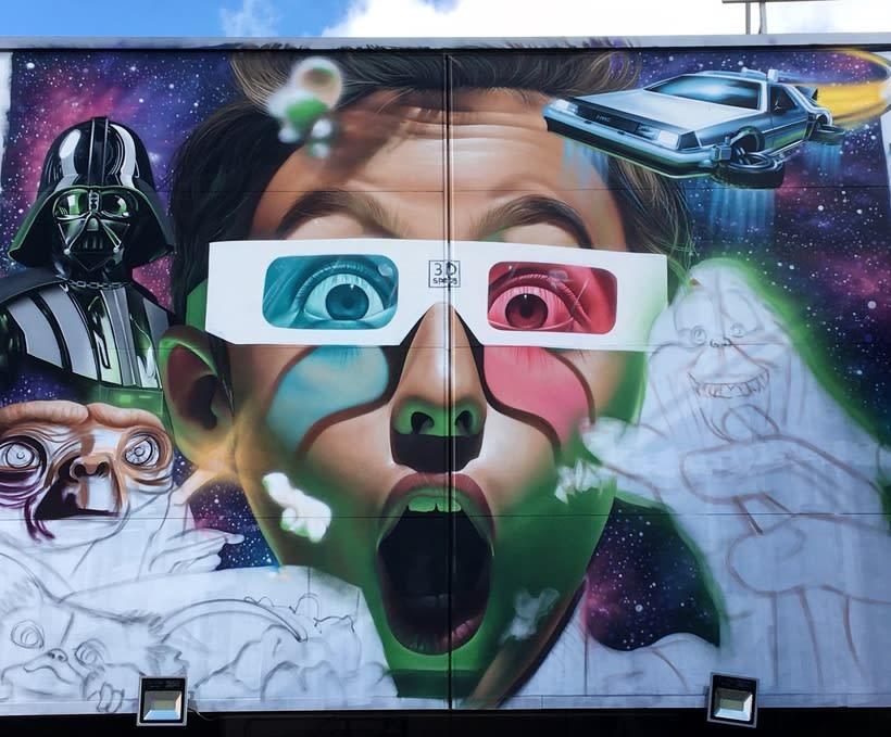 Mural Multicines París Andujar Domestika