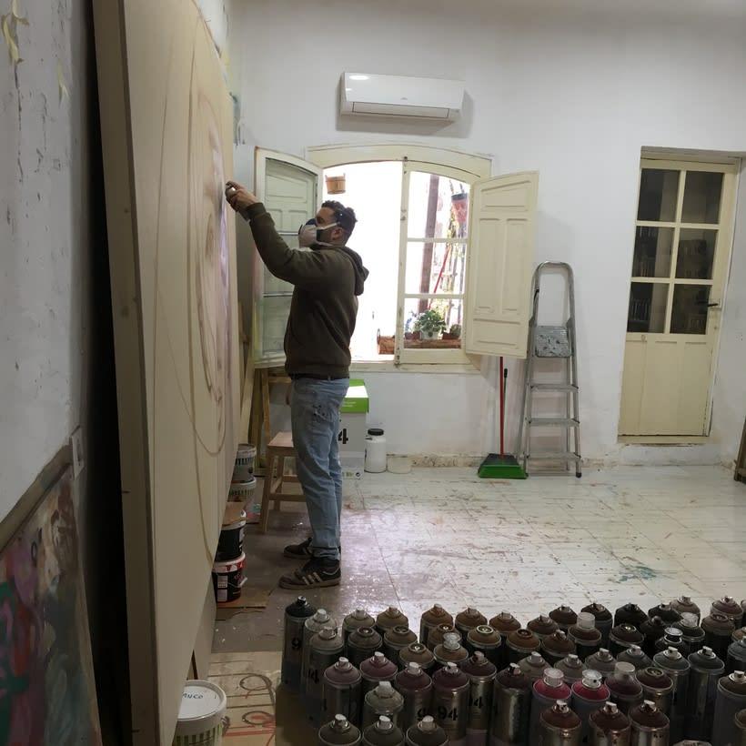 Cuadro de NIKONE -En mi estudio LINARES- 2