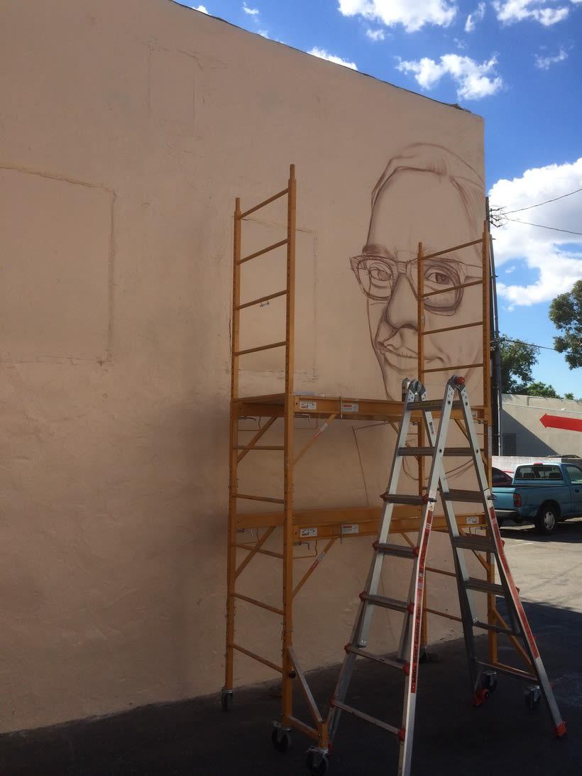 Mural HIGH VOLTAGE -Estudio de tattoo de Kat Von D, Hollywood LA- 0