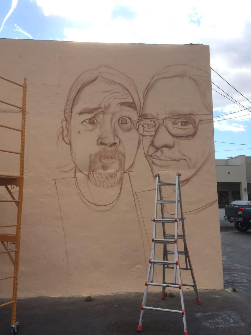 Mural HIGH VOLTAGE -Estudio de tattoo de Kat Von D, Hollywood LA- 1