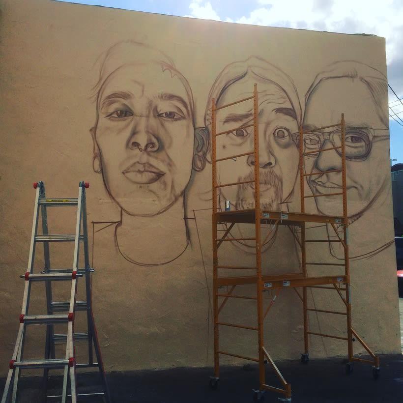 Mural HIGH VOLTAGE -Estudio de tattoo de Kat Von D, Hollywood LA- 2