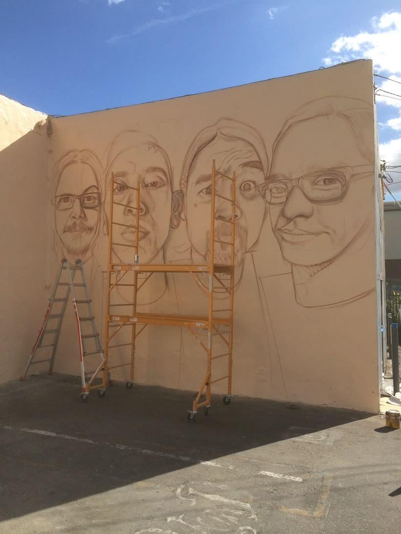 Mural HIGH VOLTAGE -Estudio de tattoo de Kat Von D, Hollywood LA- 3