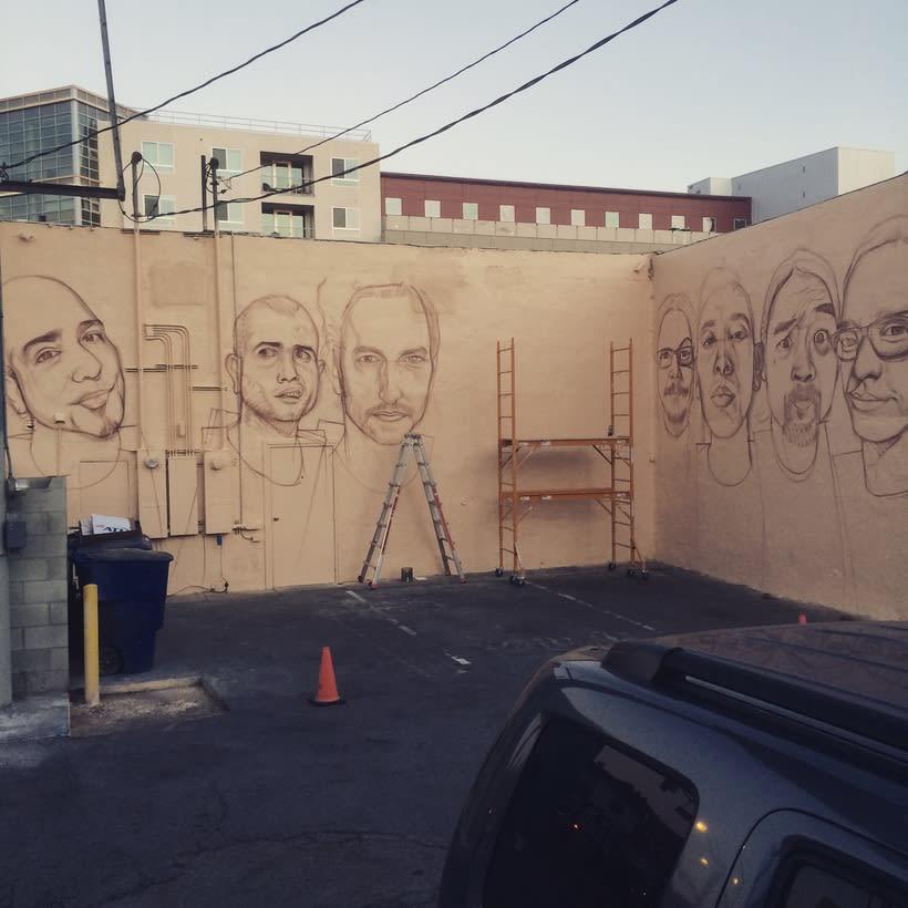 Mural HIGH VOLTAGE -Estudio de tattoo de Kat Von D, Hollywood LA- 4