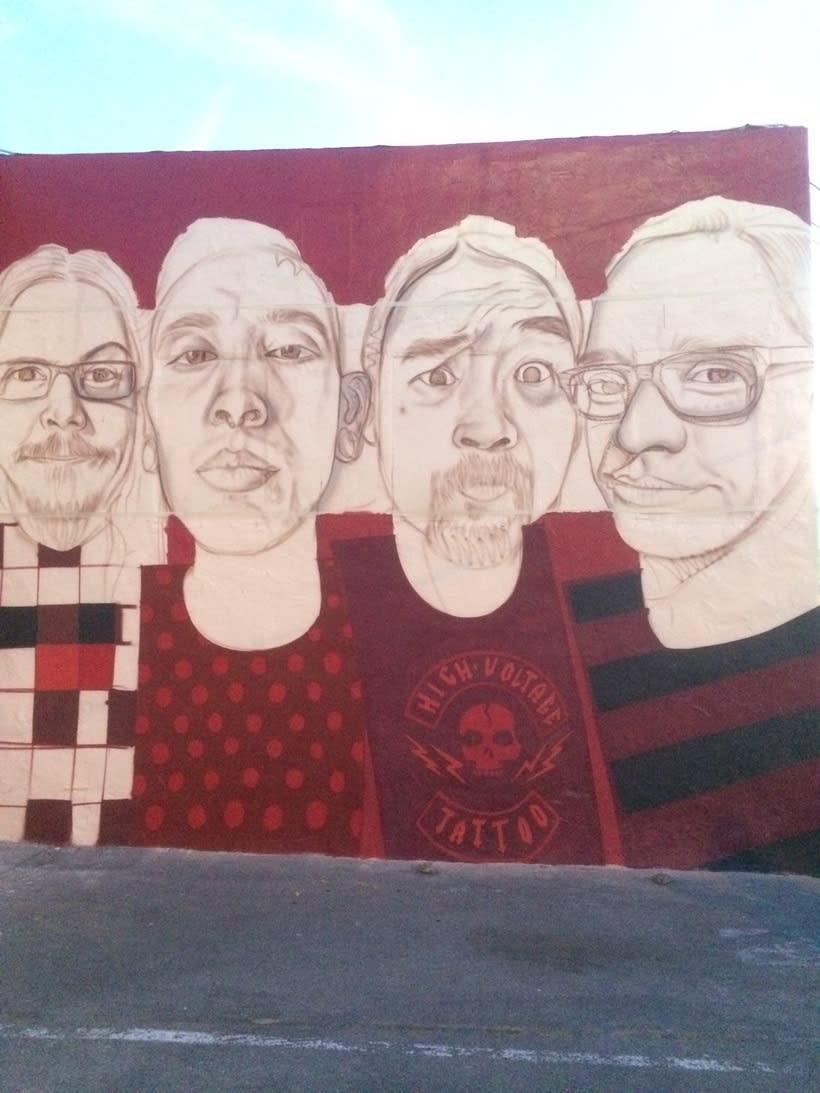 Mural HIGH VOLTAGE -Estudio de tattoo de Kat Von D, Hollywood LA- 5