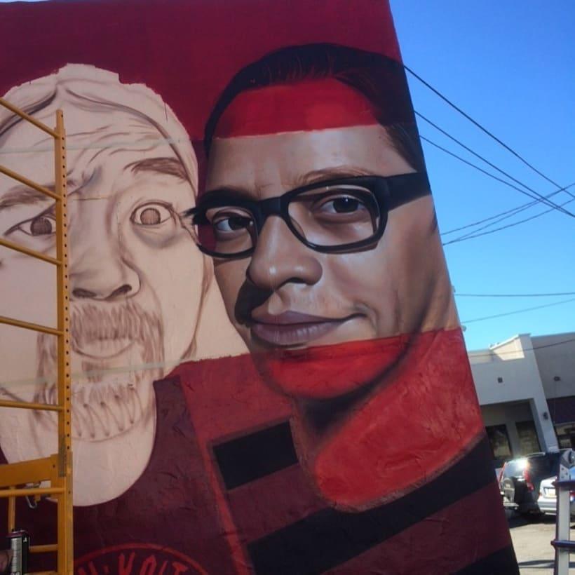 Mural HIGH VOLTAGE -Estudio de tattoo de Kat Von D, Hollywood LA- 6