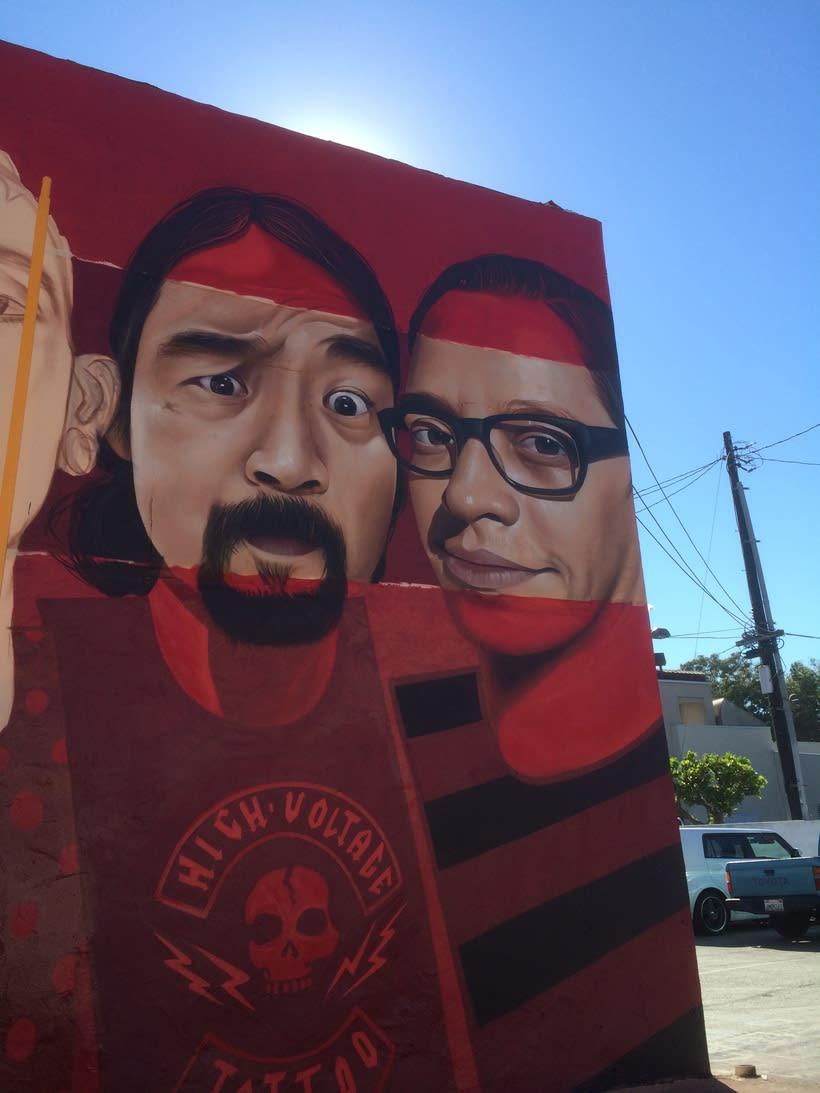Mural HIGH VOLTAGE -Estudio de tattoo de Kat Von D, Hollywood LA- 7