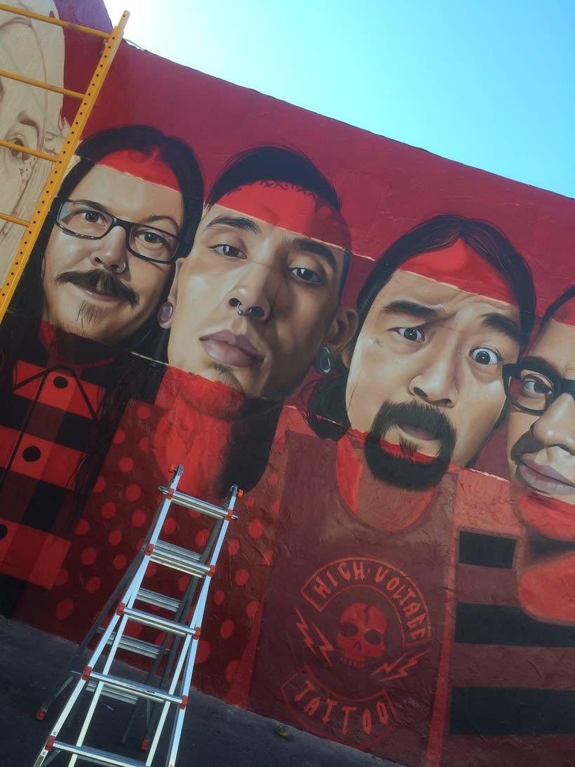 Mural HIGH VOLTAGE -Estudio de tattoo de Kat Von D, Hollywood LA- 8