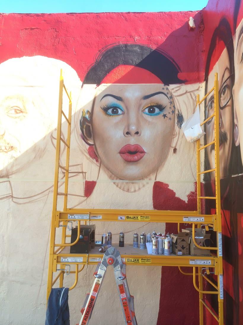 Mural HIGH VOLTAGE -Estudio de tattoo de Kat Von D, Hollywood LA- 9