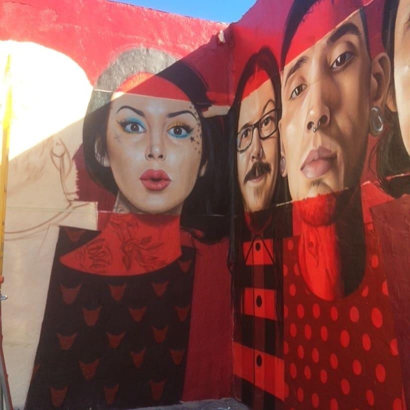 Mural HIGH VOLTAGE -Estudio de tattoo de Kat Von D, Hollywood LA- 10