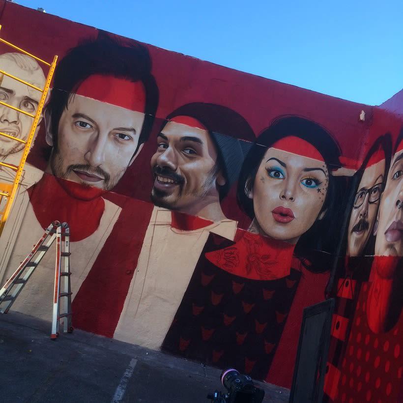 Mural HIGH VOLTAGE -Estudio de tattoo de Kat Von D, Hollywood LA- 11