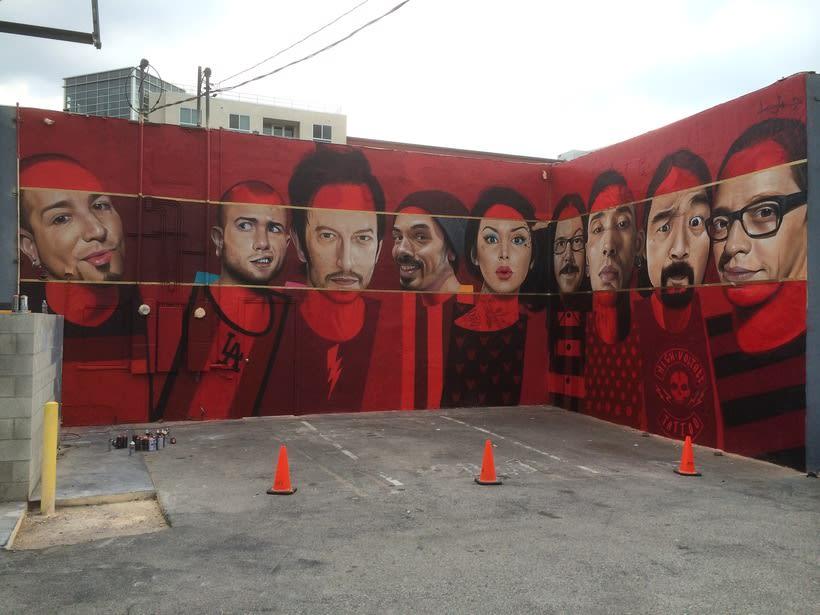 Mural HIGH VOLTAGE -Estudio de tattoo de Kat Von D, Hollywood LA- 14
