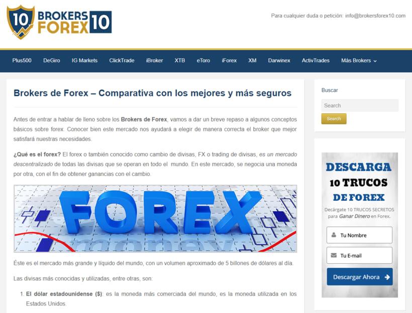 Diseño web para empresa de servicios en Forex 2