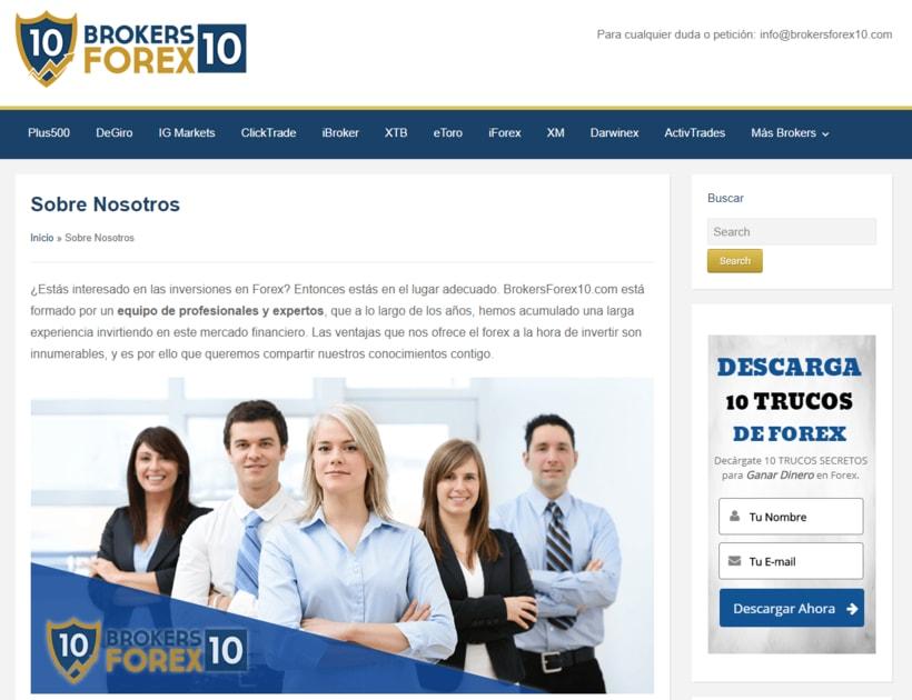 Diseño web para empresa de servicios en Forex 3