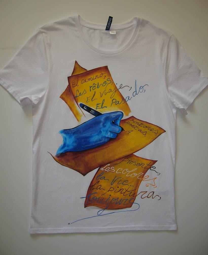 Camisetas Pintadas a mano de Mujer y de hombre 42