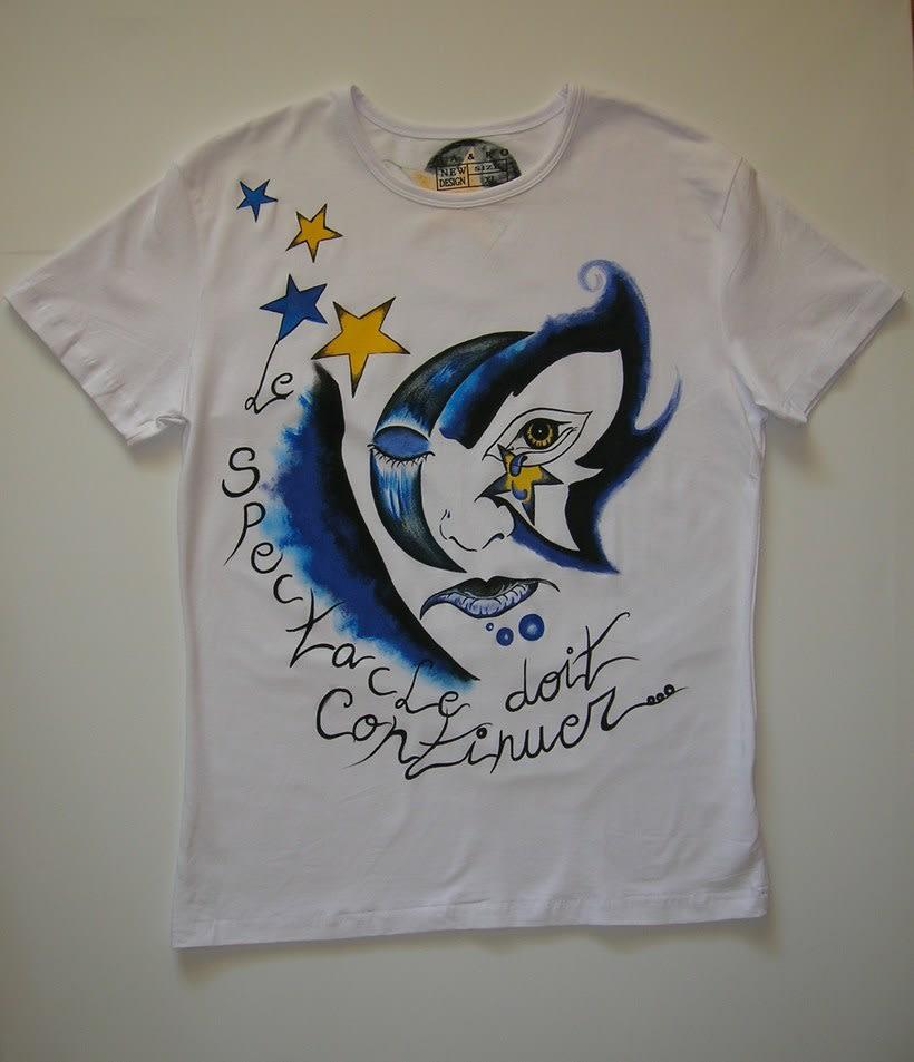 Camisetas Pintadas a mano de Mujer y de hombre 43